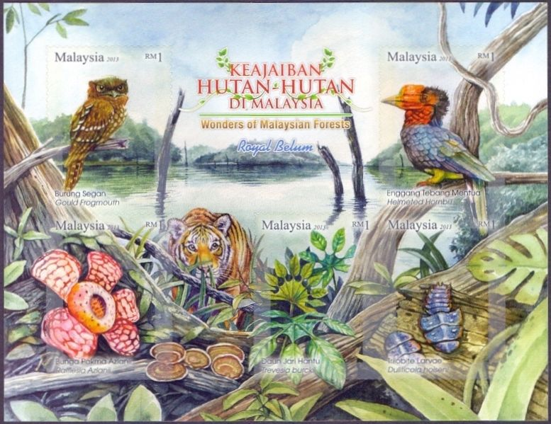 Wonders of Malaysian Forests Royal Belum, souvenir sheet