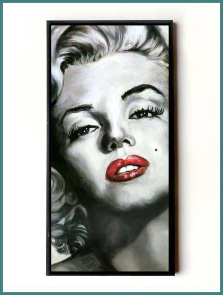 Quadro Marilyn Monroe Batom