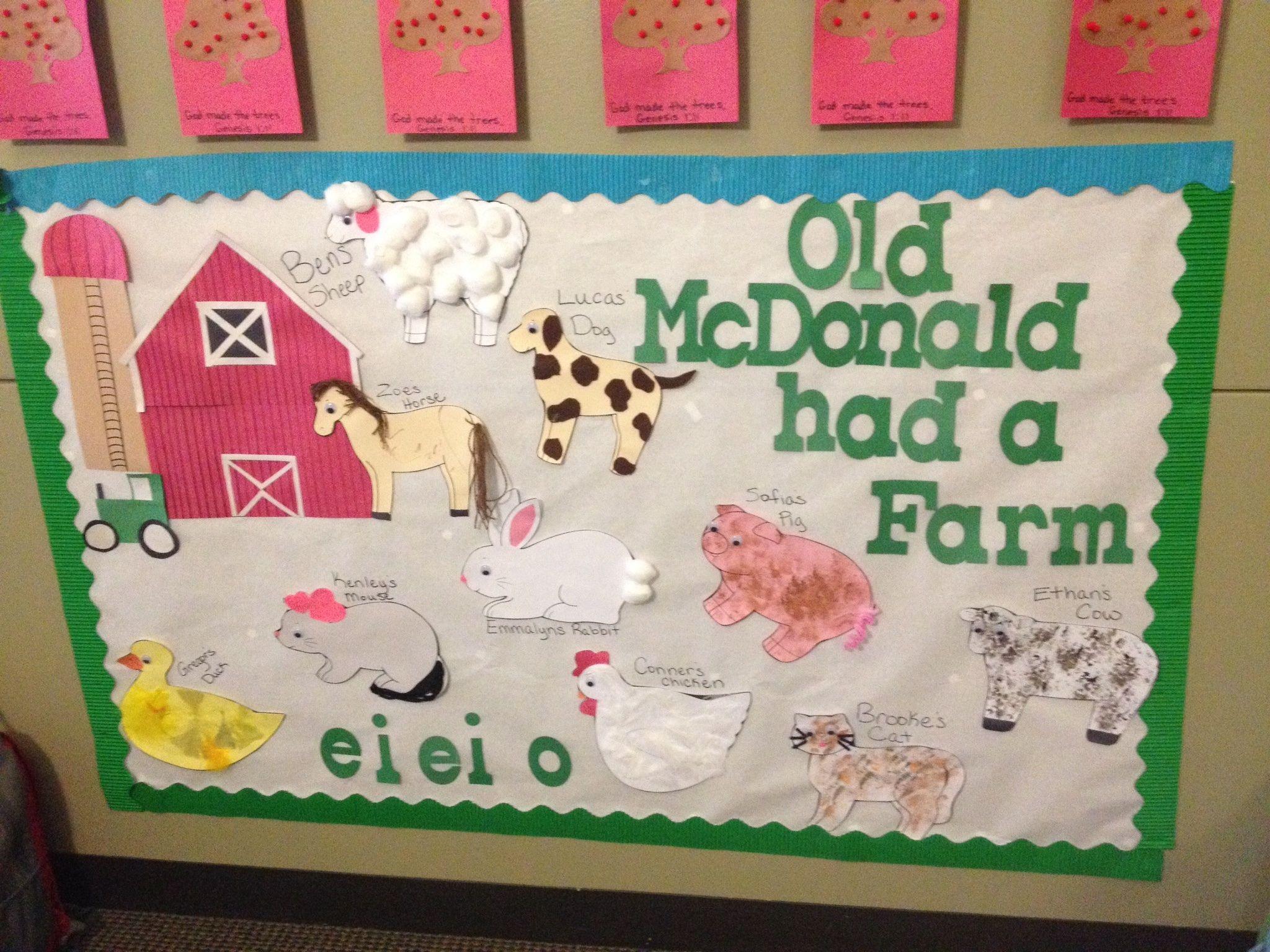 Old Mcdonalds Farm Preschool Art