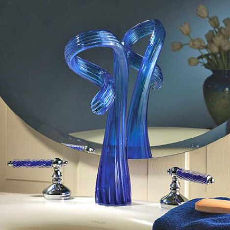 A Touch of Glass. Each sculptured glass faucet is hand made to order ...