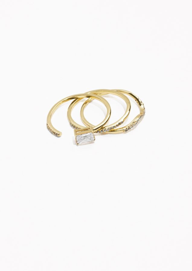 lo three epergne napkin products gold or platinum ring rings