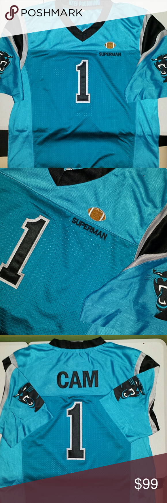 meet f13ad 6d732 Cam Newton Carolina Panthers Custom Jersey Stitched n ...