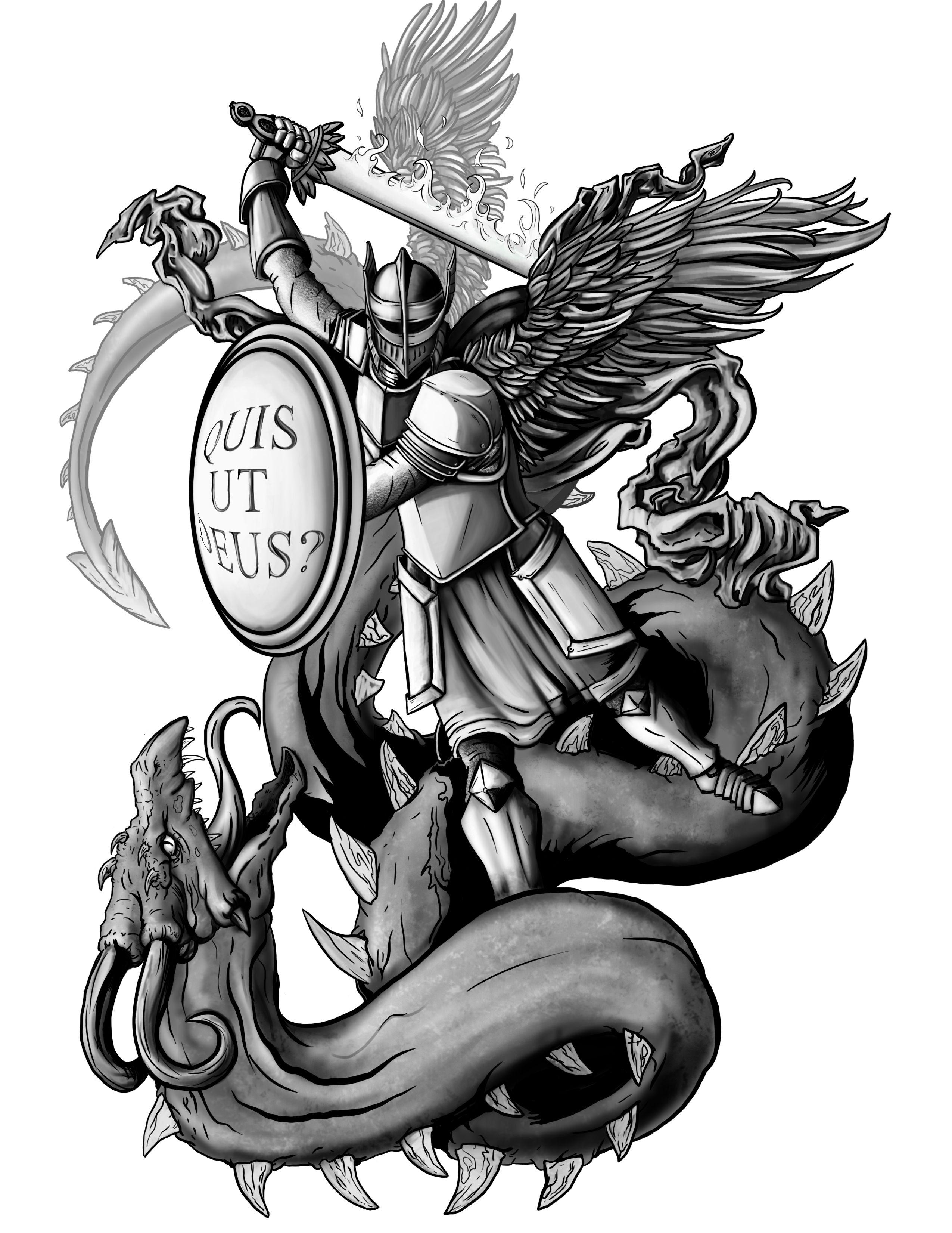 St Raphael Tattoo : raphael, tattoo, Michael-tattoo2.jpg, Archangel, Raphael,, Archangels,, Michael, Tattoo