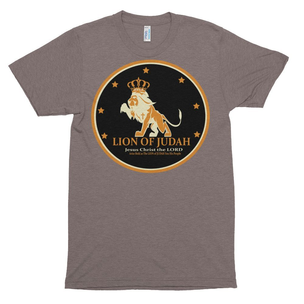 Short sleeve soft t-shirt - Arise Bold and Free as the LION of JUDAH