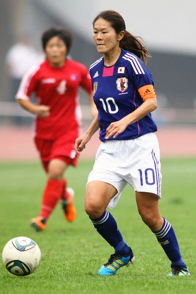 One Of Her Favorite Soccer Players Homare Sawa Captain Of Japan S Women S National Foot Female Soccer Players Female Football Player Football Players Images