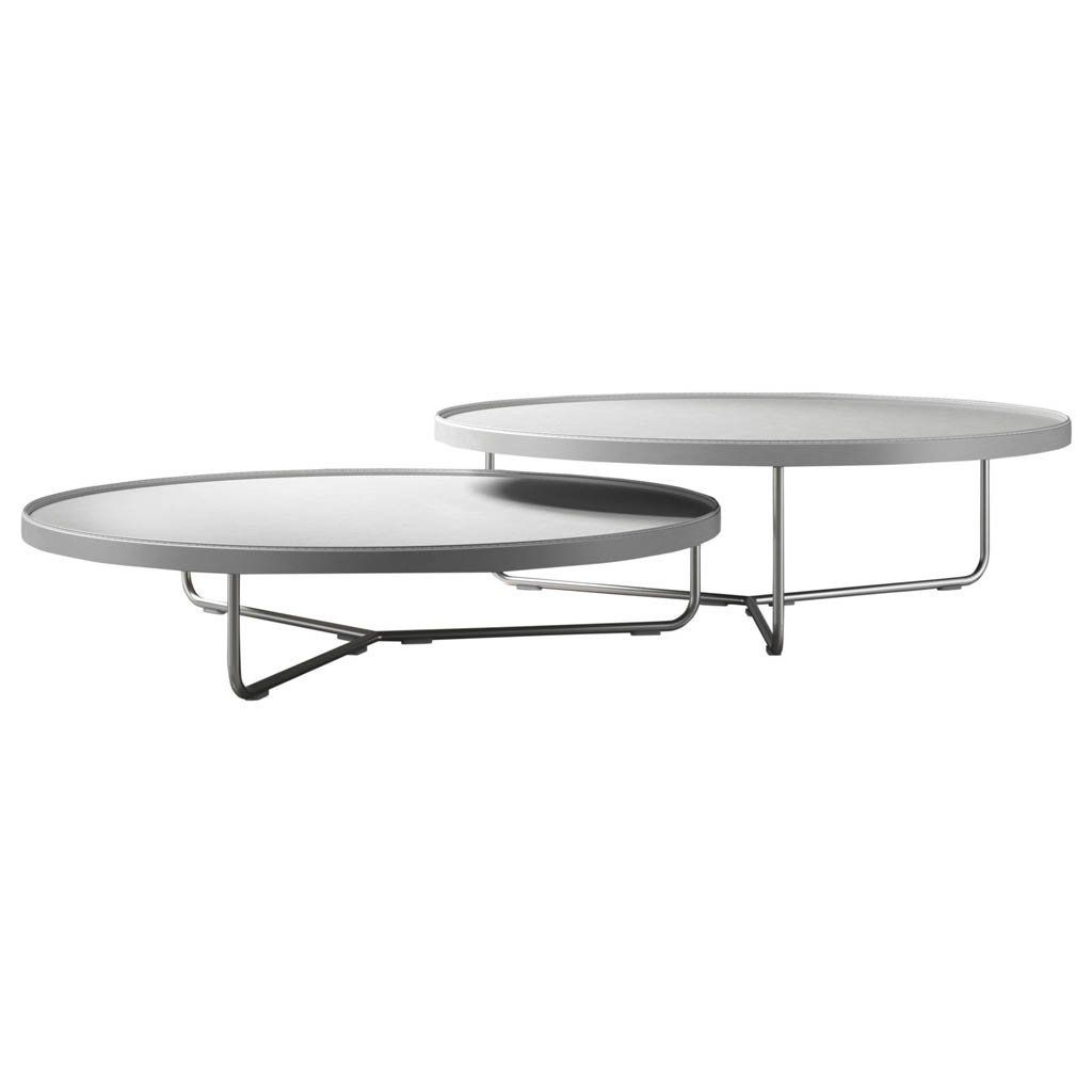 Designed To Make An Impression The Adelphi Round Nesting Coffee Tables From Modloft Furniture Offer Mult Coffee Table Nesting Coffee Tables Coffee Table White