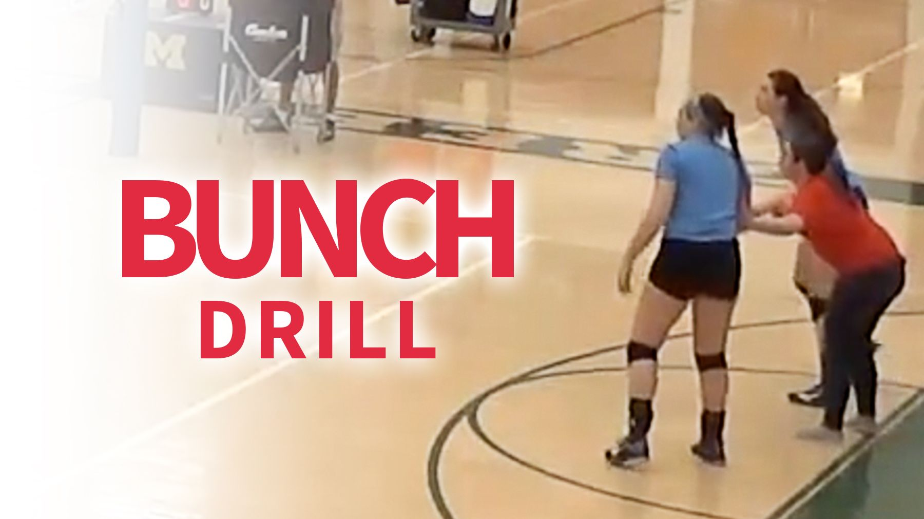 Bunch Drill To Train Defensive Movement Of Players Coaching Volleyball Volleyball Training Volleyball Practice