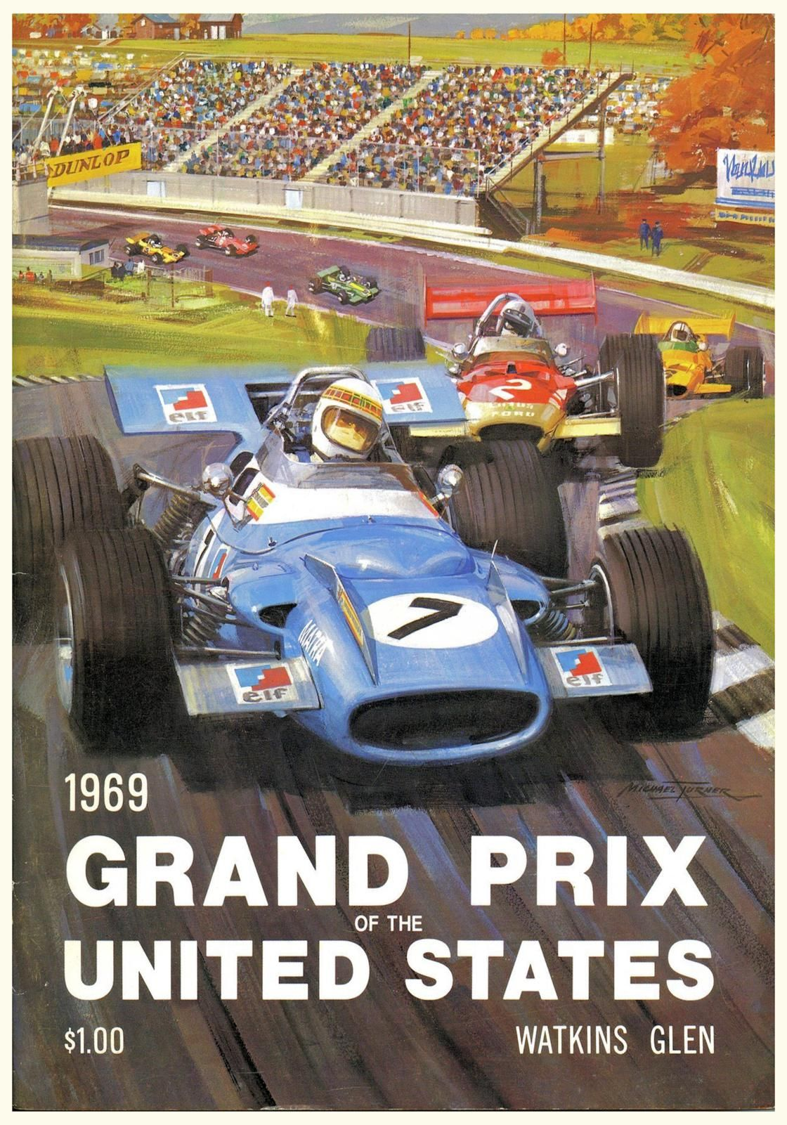 1969 US Grand Prix poster #F1 #Formula1 #FormulaOne   Art ...