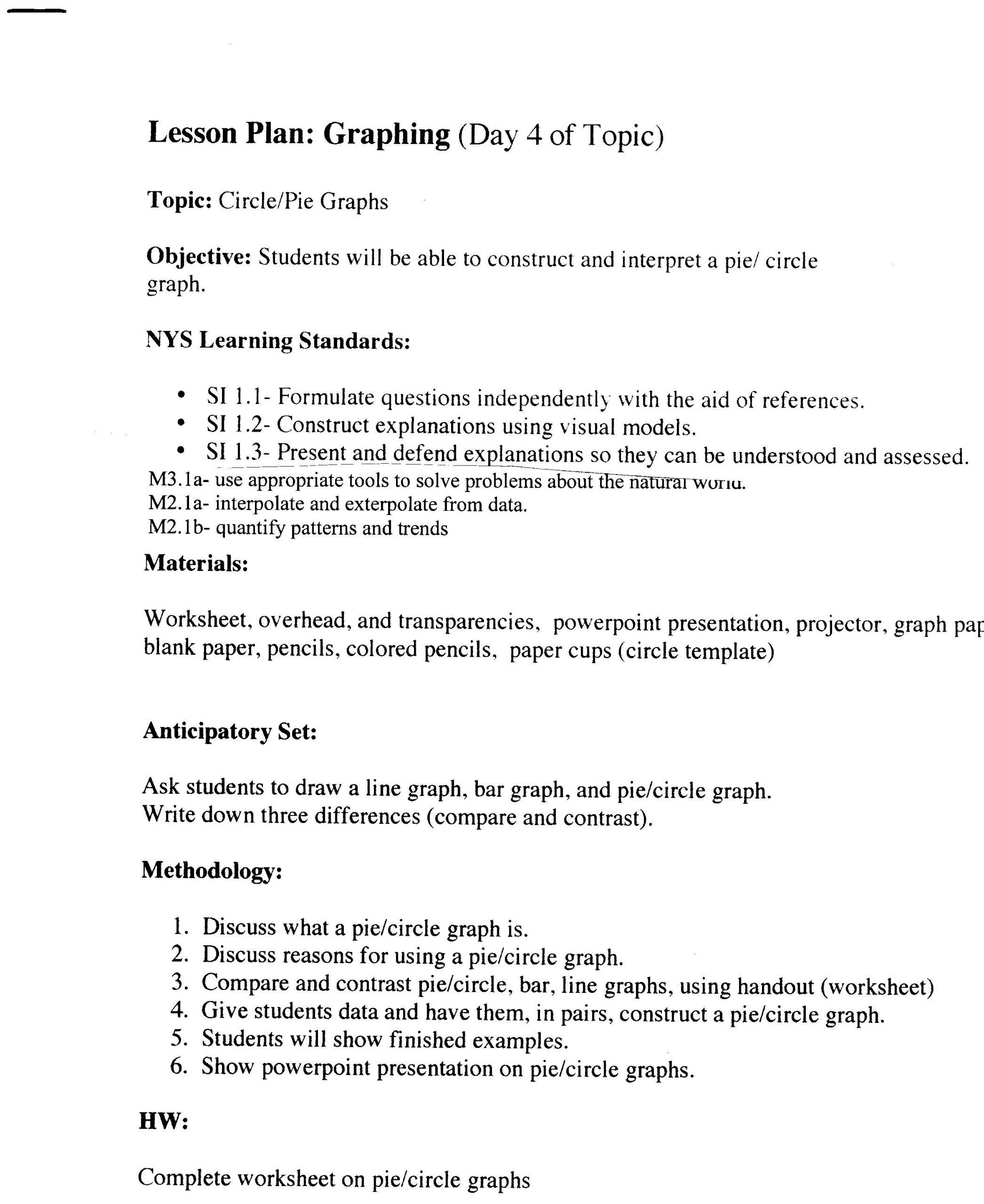 Interpreting Graphs Worksheet Science Parts Bar Graphs