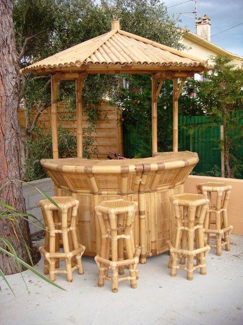 mobilier en bambou bar bambou bali description bar bambou avec 4 tabourets expo bambous. Black Bedroom Furniture Sets. Home Design Ideas
