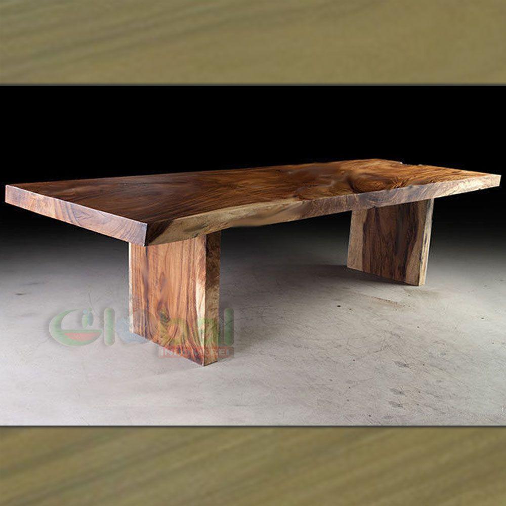 acacia solid wood slab dining table