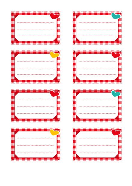 Exceptionnel Etiquettes gratuites pour enfants : modèle vichy rouge | Vichy  PT18