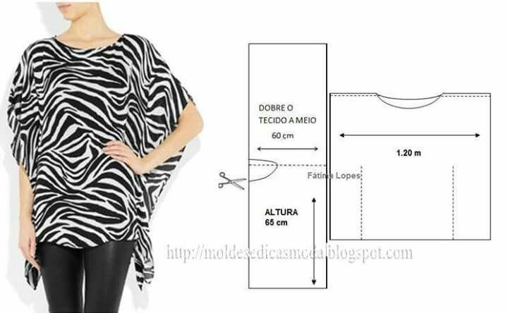 Camisola fácil de hacer   Blusas caseras   Pinterest   Tejidos de ...