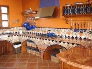 Conozcamos este hogar mexicano y su dise o vibrante y for Cocinas rusticas mexicanas