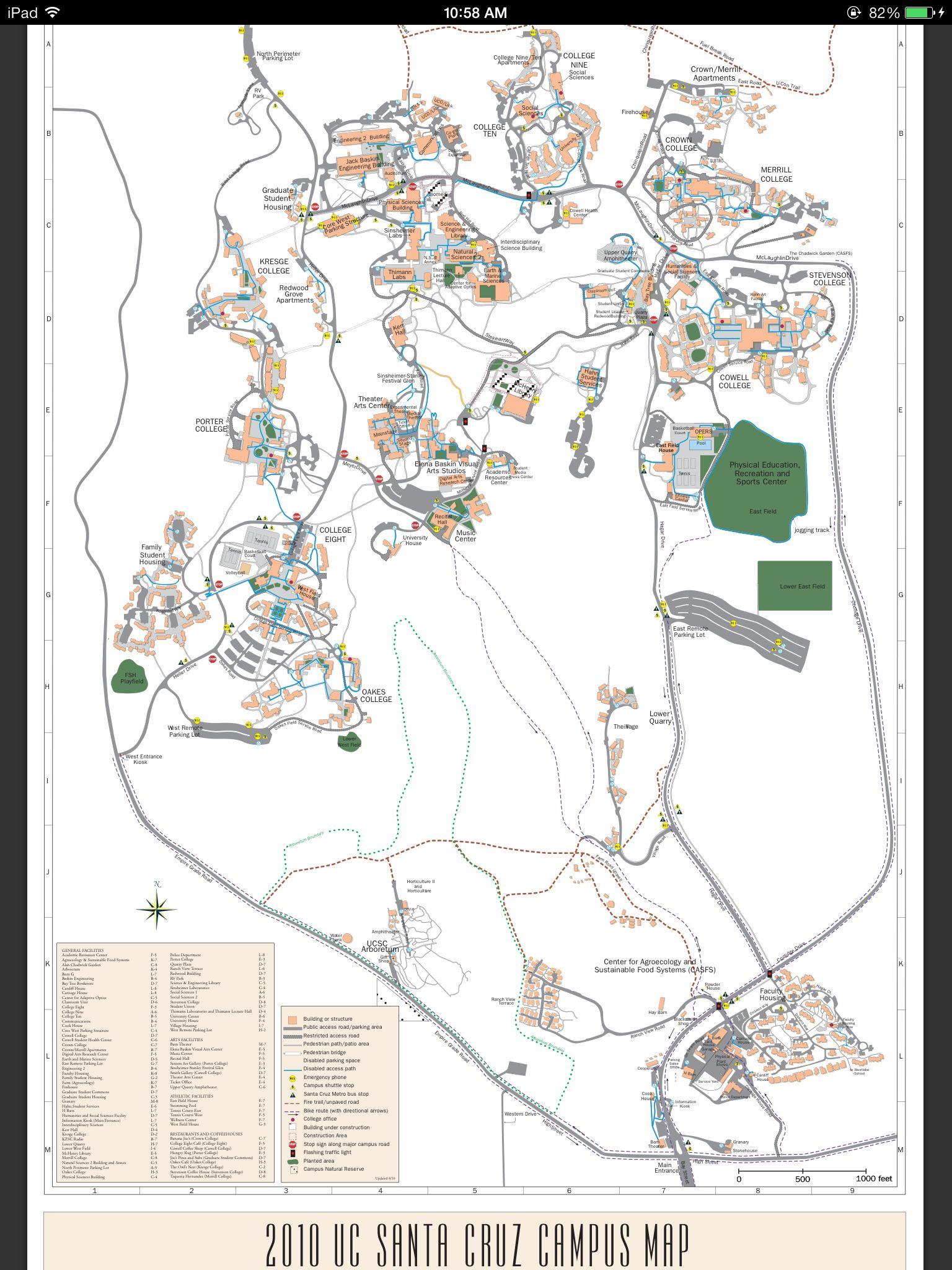 santa cruz university map Campus Map Campus Map College Tour Map santa cruz university map