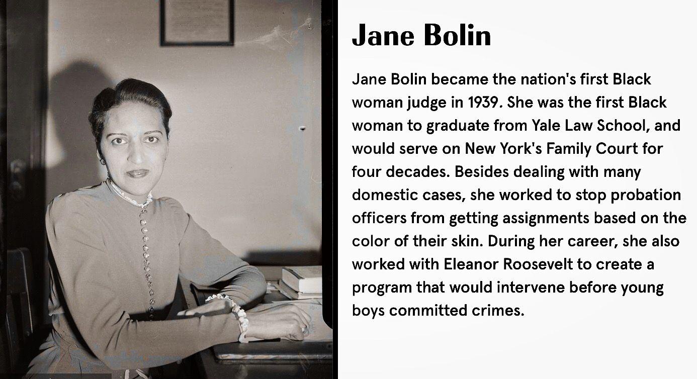 Jane Bolin Judge Blackhistorymonth Unsunghero Yale Law School Black History Month Law School