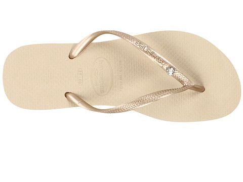 089e9cf36 Havaianas Slim Crystal Glamour SW Flip Flops Sand Grey Light Gold ...