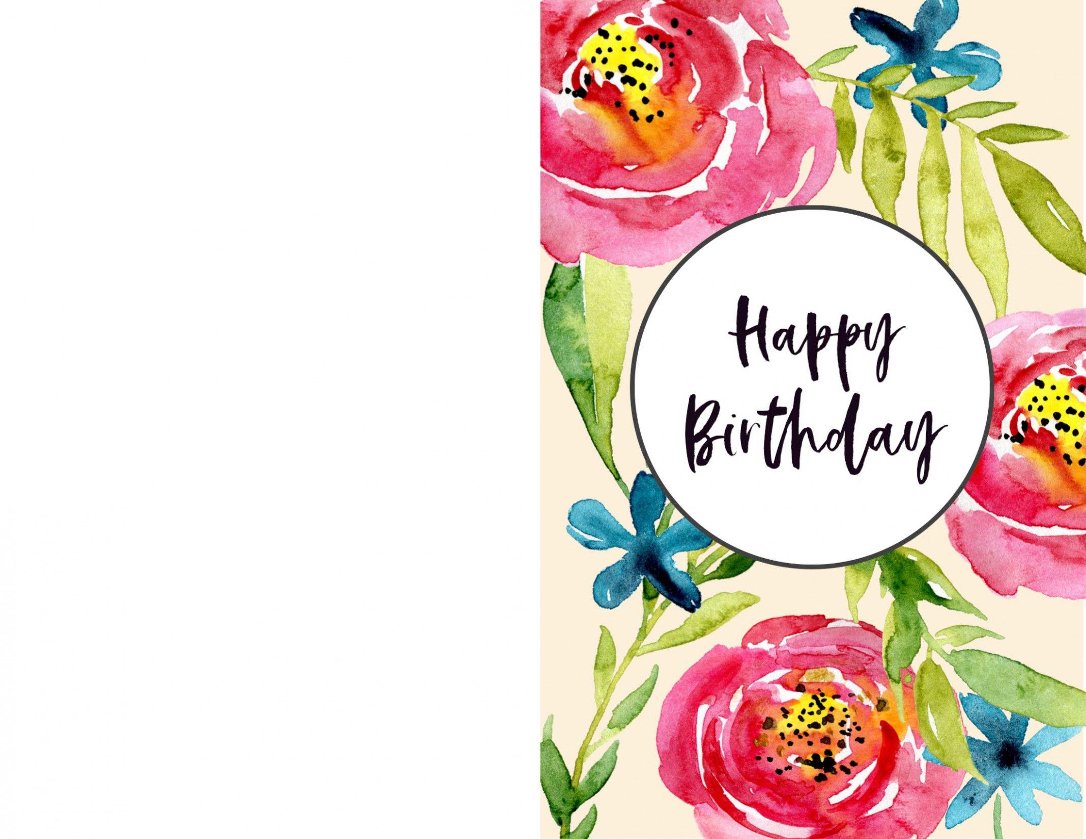 Printable Happy Birthday Card Birthday Cards To Print Free