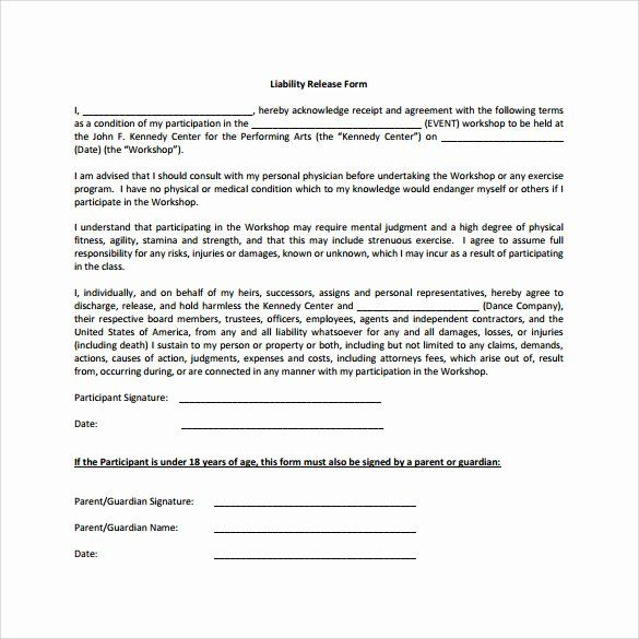 Liability Waiver Forms Template Elegant Sample Liability Release Form Examples 9 Download Free Form Example Liability Waiver Questionnaire Template