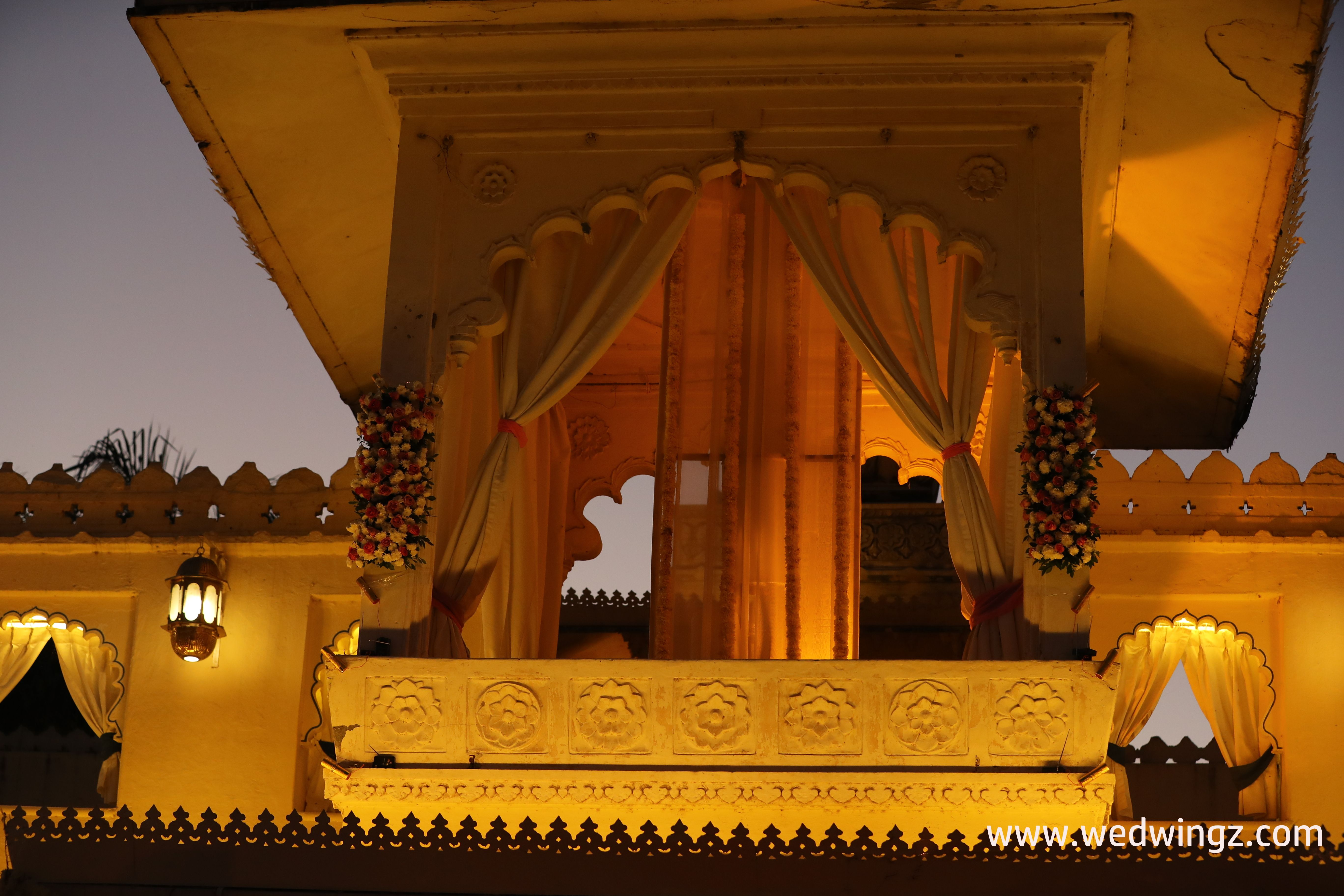 Wedding decor at Jagmandir Island Palace Udaipur