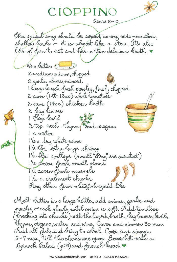 Cioppino Susanbranch Com Fish Recipes Recipe Cards Cioppino
