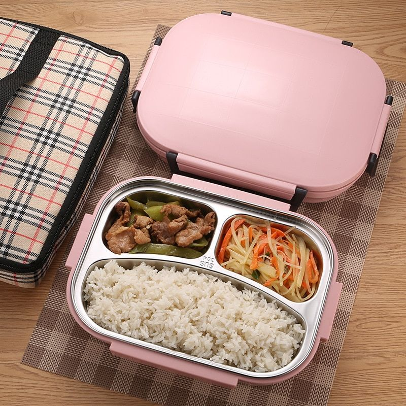84bca4e86225 ONEUP Lunch box Stainless Steel Portable Picnic office School Food ...