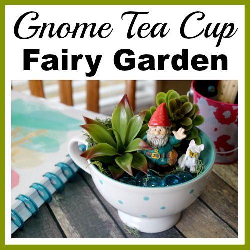 Gnome Tea Cup Fairy Garden Cute Diy Table Decoration Vegetable