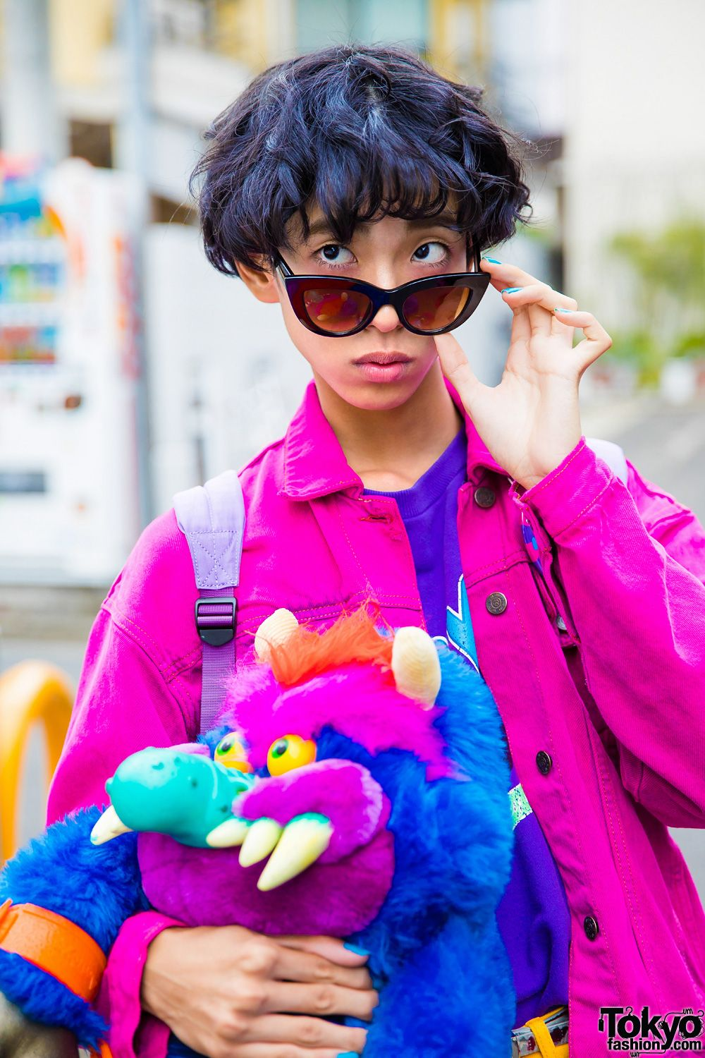 3f7d7d2bc0 Colorful 1980s Retro Street Style w/ Peco Club, WC Harajuku, RRR By Sugar  Spot Factory & My Pet Monster