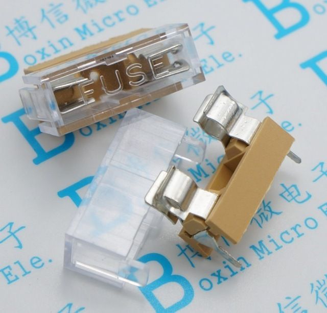 5x20mm Fuse Holder With Transparent Cover Fuse Box High Quality Fuse Holder