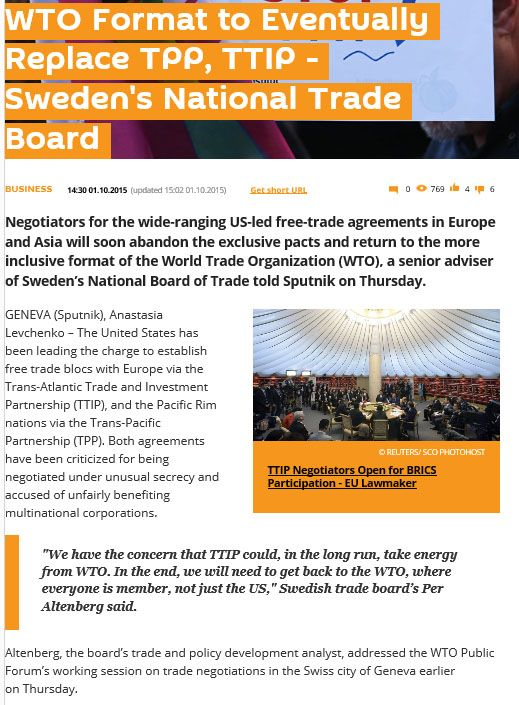 Wto Format To Eventually Replace Tpp Ttip Swedens National Trade