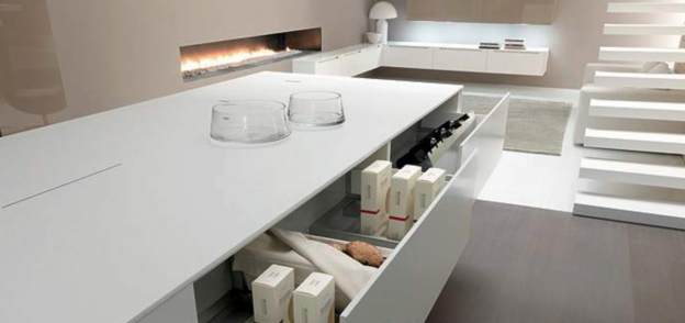 Use Corian to match your designer kitchen. Works great with the ...