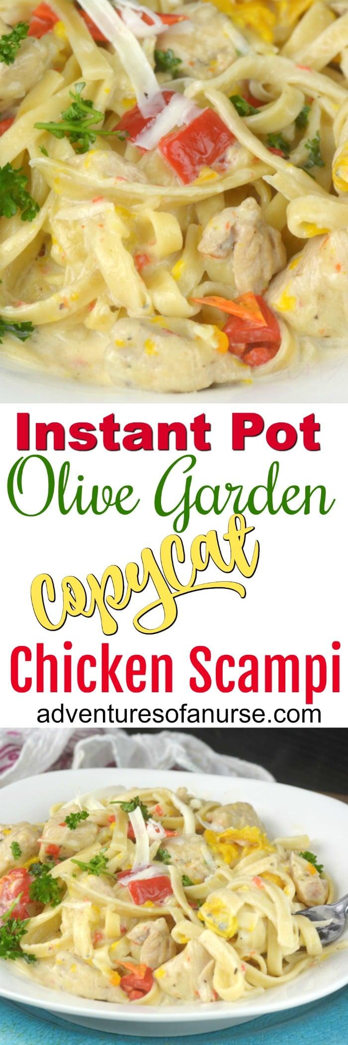 Instant Pot Olive Garden Copy Cat Chicken Scampi Recipe