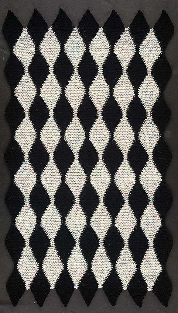 Knitting Pattern for Picasso Harlequin Rug - Quick knit in bulky ...