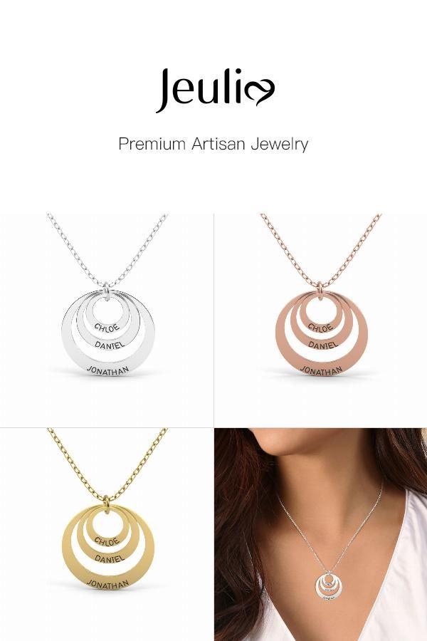 1fedf5b41 Triple Disc Engraved Necklace Sterling Silver in 2019 | Products ...