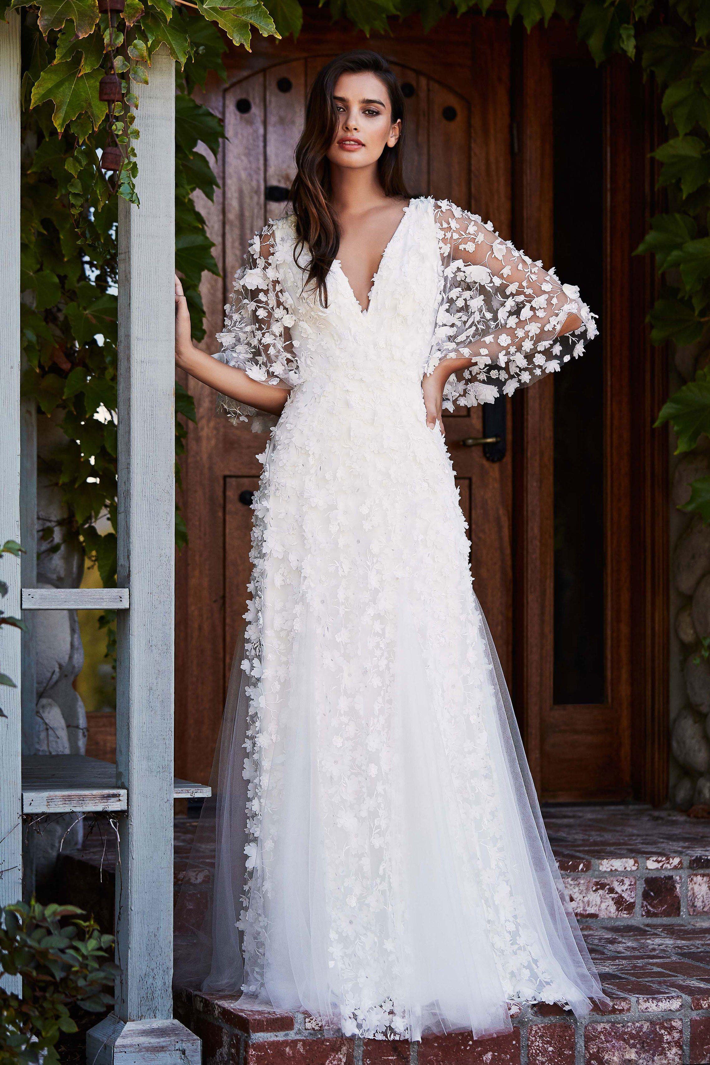 Tadashi Shoji Bridal Fall 2018 Fashion Show | Milán, La novia y Francia