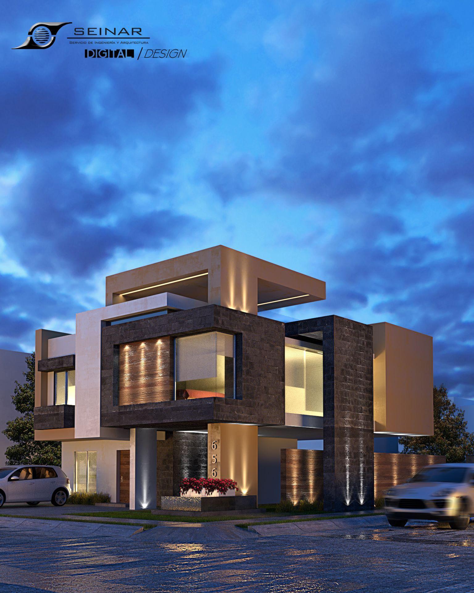 Modern Residential Exterior By Ar Sagar Morkhade: Proyecto De Seinar Construccion