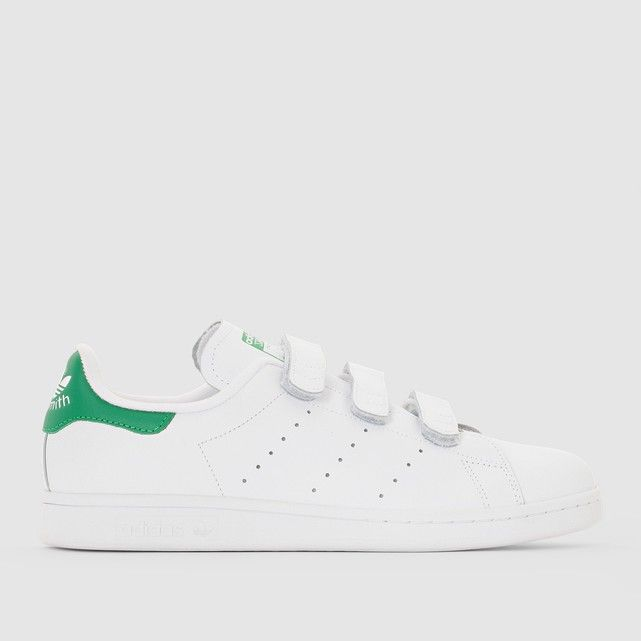 59e82a435f5959 Baskets scratch stan smith cf Adidas Originals blanc vert   La Redoute