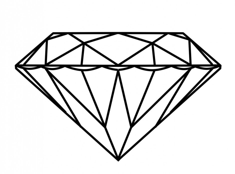 Diamond Ring Coloring Page Stock Illustration