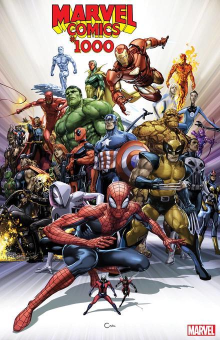 MARVEL COMICS #1000 ALEX ROSS COVER MARVEL COMICS X-MEN HULK AVENGERS SPIDER-MAN