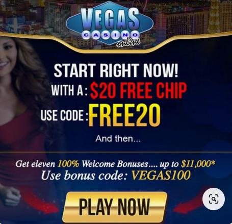 No deposit casino bonus code at Vegas Casino Online. Claim a no deposit bonus…