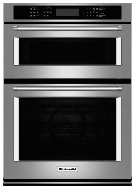 Kitchenaid 27 Single Electric Convection Wall Oven With Built In Microwave Stainless Steel Front Sta Combination Wall Oven Wall Oven Wall Oven Microwave