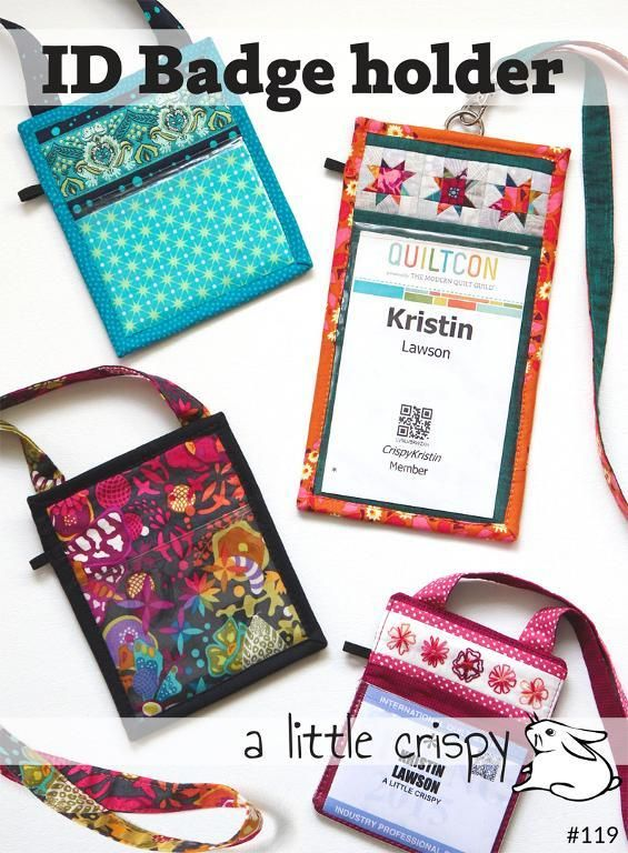 Id Badge Holders By Kristin Lawson Craftsy Sewing Projects For Beginners Id Badge Holders Beginner Sewing Projects Easy