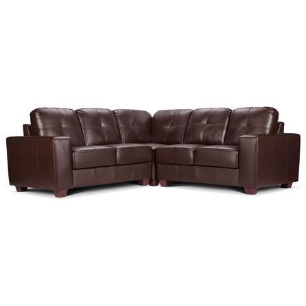 Roma Corner Leather Sofa Black Sofa Living Room Sofa Retro Sofa