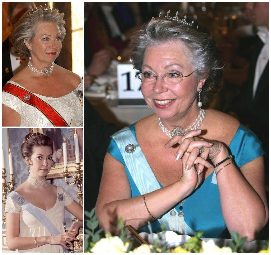 Queen Sophie's Diamond and Pearl Tiara. This small tiara, featuring a diamond base topped by small pearls, is currently owned by Princess Christina. It was given to her in 1974 by her godmother, Elsa Cedergren, a granddaughter of Queen Sophie; some sources suggest that the tiara was a legacy from Sophie, hence the name. This tiara has sadly been stolen a few years ago.