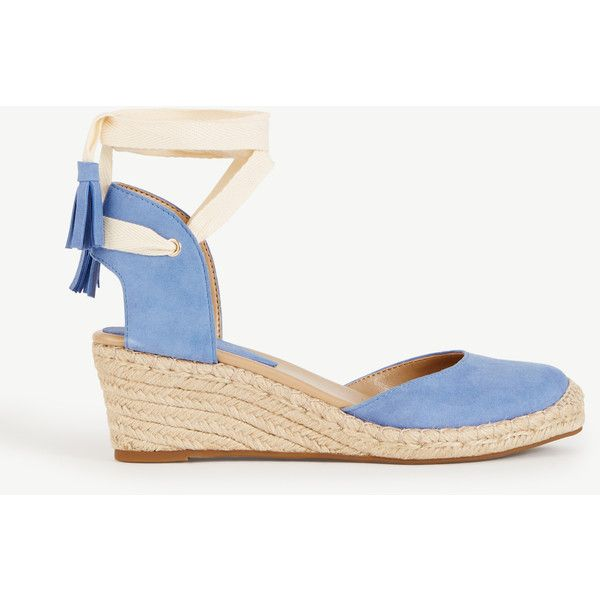 0fbfffafc7c Ann Taylor Cally Suede Espadrille Wedges ( 128) ❤ liked on Polyvore  featuring shoes