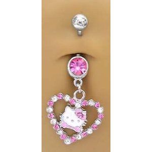 Pink Hello Kitty Belly Button Ring I Want It Poop But Im Only 2