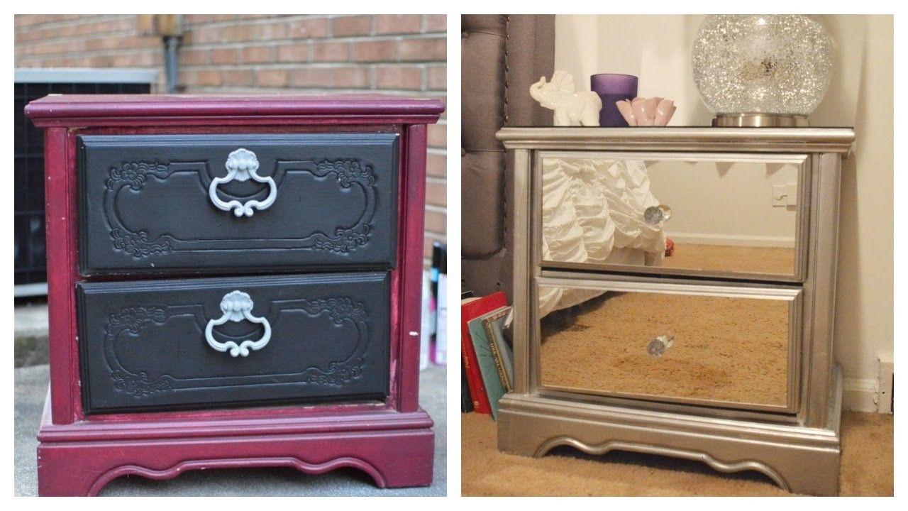 DIY Mirror Nightstand! $4 Dresser Revamp + IKEA rant ...