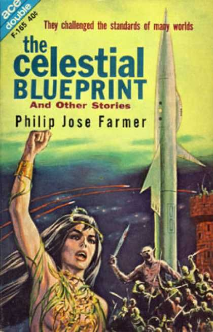 Ace books the celestial blueprint pulp up pinterest books scificovers ace double celestial blueprint and other stories by philip jose farmer cover art attributed to ed emshwiller malvernweather Gallery