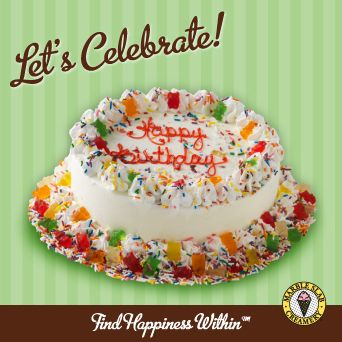 Birthday Bonanza Ice Cream Cake from Marble Slab Creamery Only the
