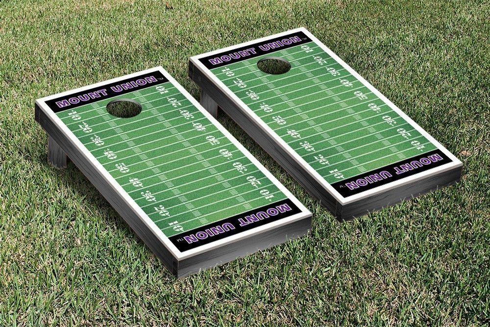 Mount union purple raiders football field cornhole board